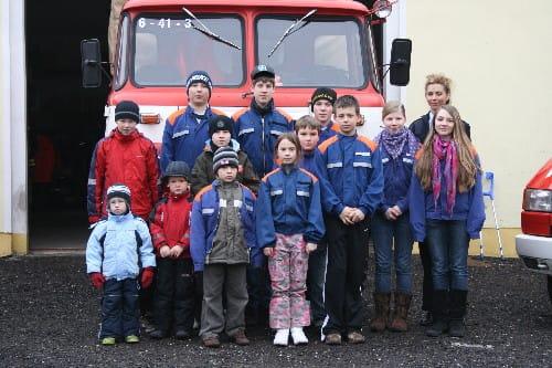 Die Jugend der Feuerwehr Fohrde